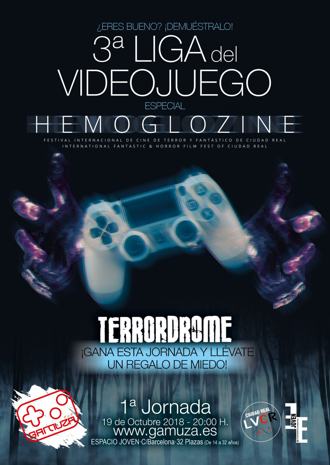 3ª Liga de Videojuegos Ciudad Real. Jornada 1. Hemoglozine 2018