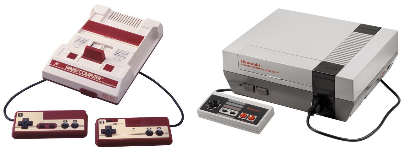 Famicom vs nes