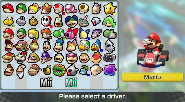 Mario Kart 8 Roster