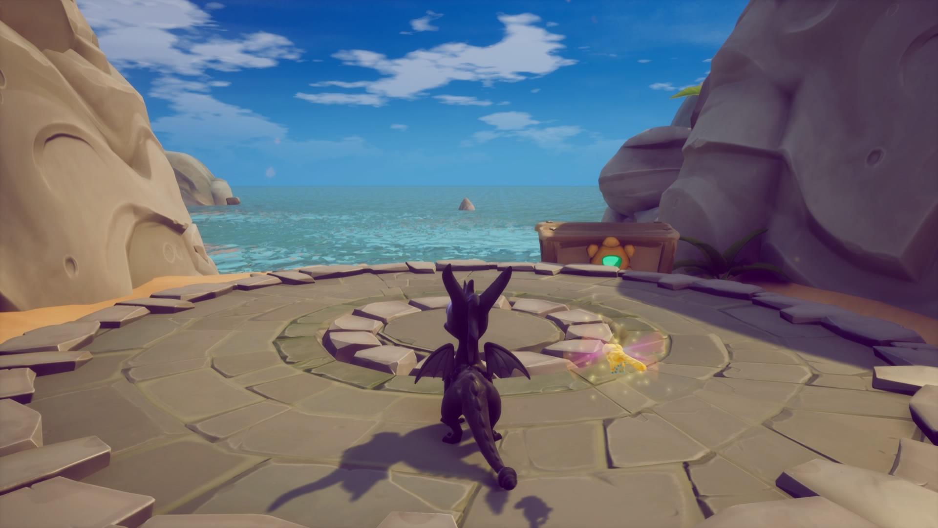 """Spyro en Playa Soleada - Juego: """"Spyro 2: En busca de los talismanes"""" de Reignited Trilogy"""