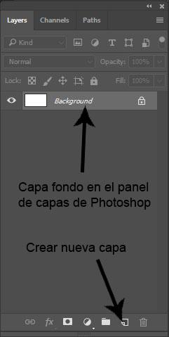 nueva capa Photoshop