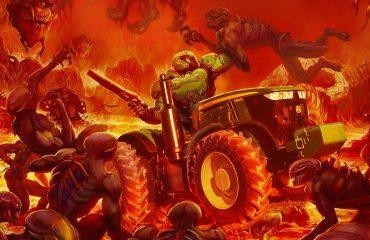 Editan el trailer de Farming Simulator 2019 con la música del último DooM