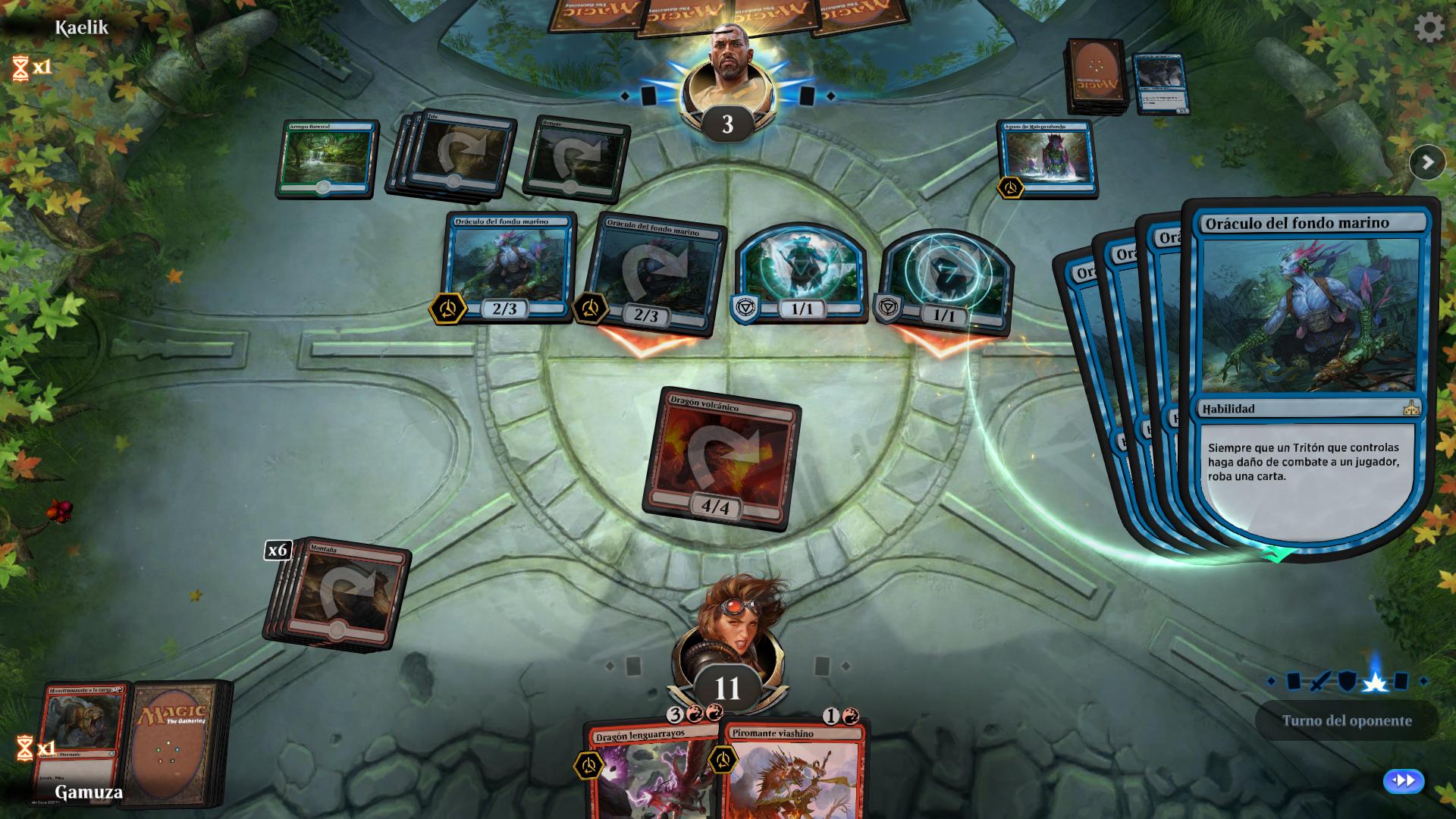 Turno del oponente - Magic the Gathering: Arena