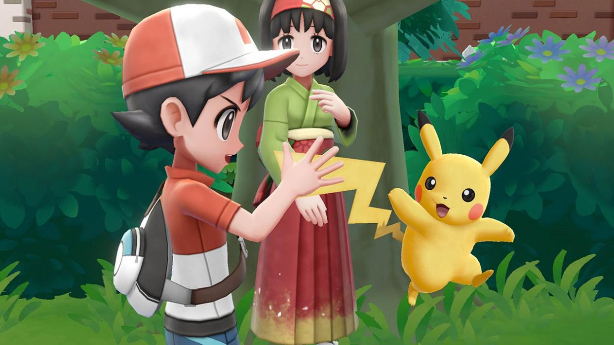 Pikachu y su entrenador - Pokémon Let's Go
