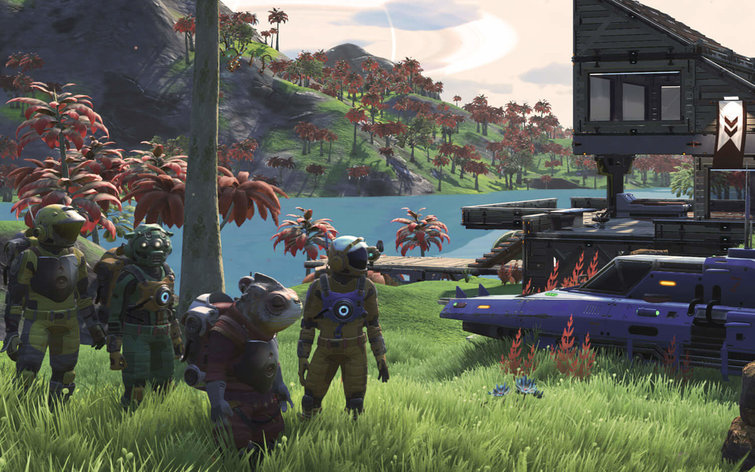 Captura de pantalla de No Man's Sky Next.