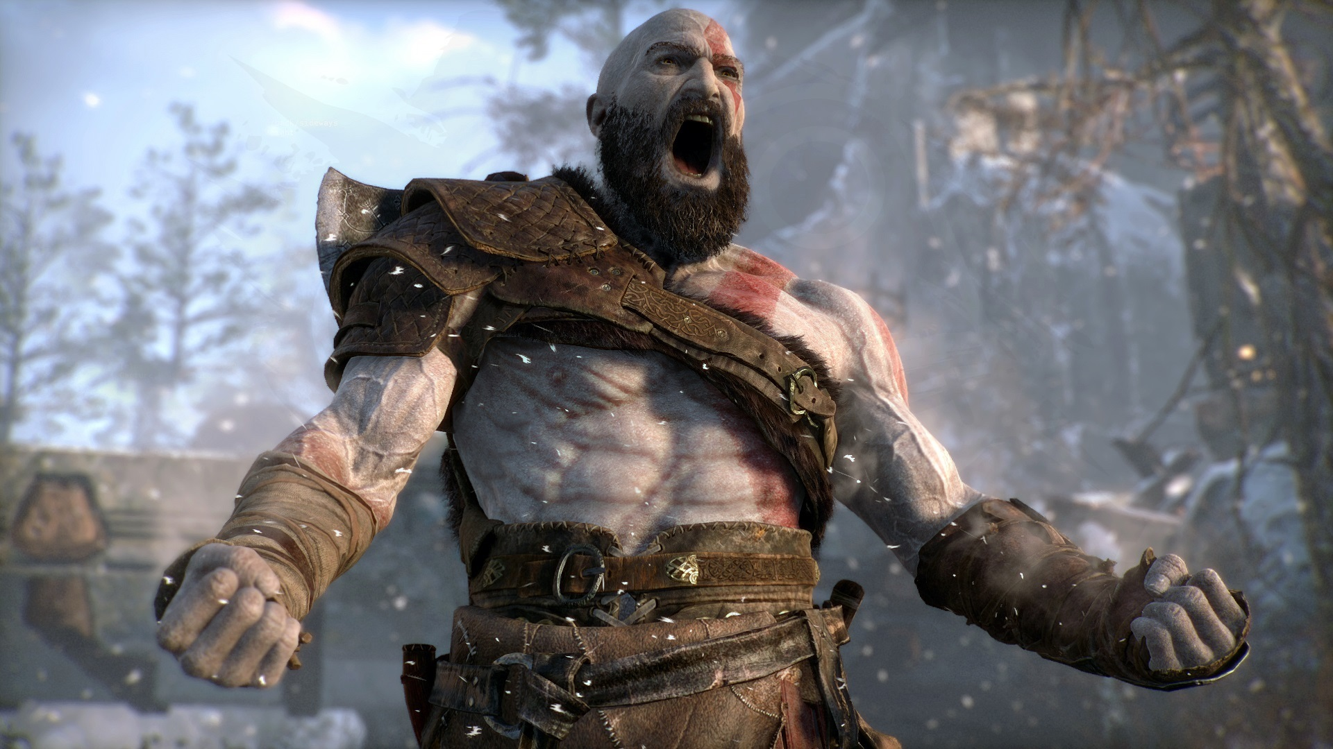 Captura de pantalla de God of War (2018) para PS4.